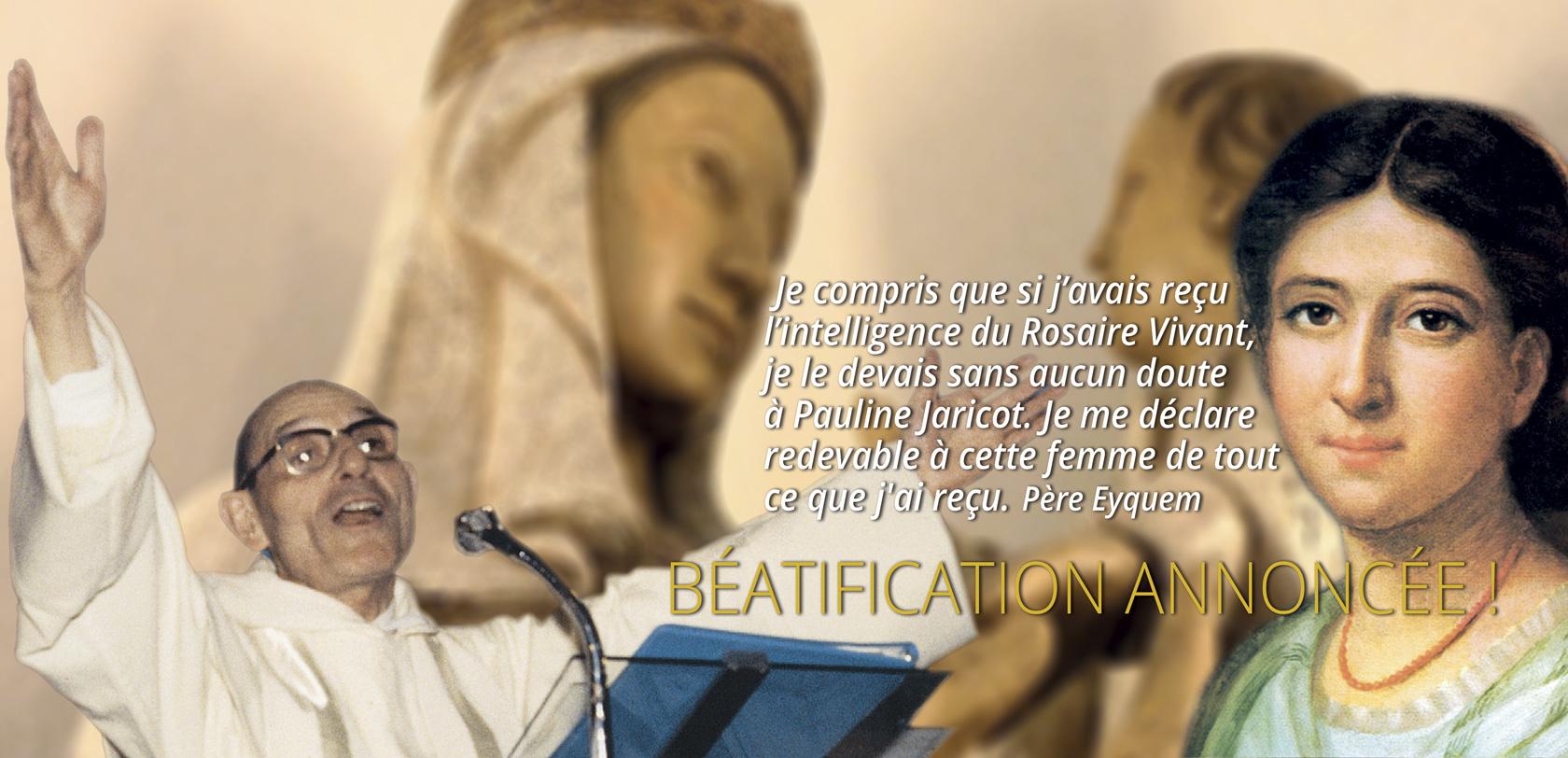 PAULINE JARICOT, FONDATRICE DU <em>ROSAIRE VIVANT</em>, BÉATIFIÉE !